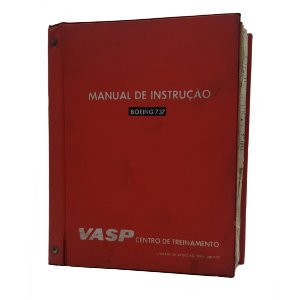 MANUAL DE INSTRUÇÃO VASP - BOEING 737 CAPA VERMELHA