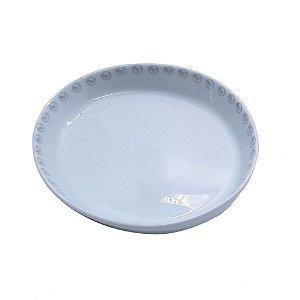 Prato de Porcelana Oval com Logo Vasp