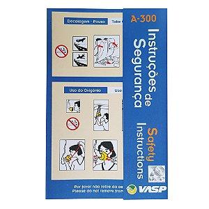 Cartão de Segurança Airbus 300  - 70 ano VASP
