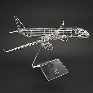 MAQUETE AERO DE METAL - ER J 190