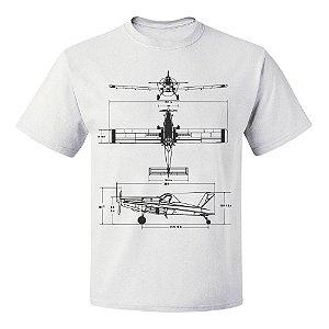 Camiseta Air Tractor Branca | Tudo Nivelado