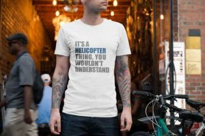 CAMISETA IT'S A HELICOPTER MASCULINA - VHD