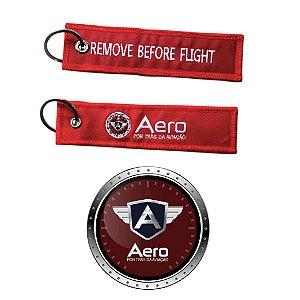KIT AERO - 1 CHAVEIRO + 1 ADESIVO