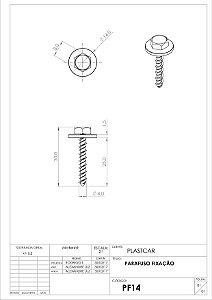 PARAFUSO 4,0X25 PARALAMA (FIAT ADVENT NOVA 15/17)