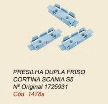 PRESILHA DUPLA FRISO CORTINA (SCANIA S5) VOLVO IVECO
