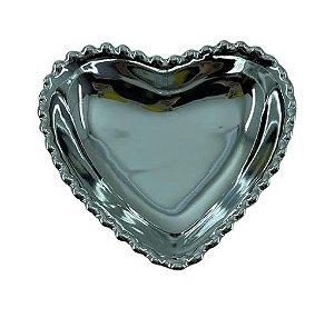 Coração Cerâmica P Prata