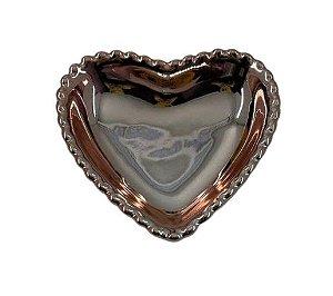 Coração Cerâmica P Rose