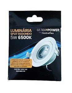 Luminária Spot Redondo LED 5W 6500K