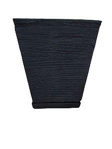 Vaso Quadrado PP com Prato Cores Sortido
