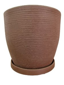 Vaso Redondo Bojo 2 com Prato Cores Sortidos