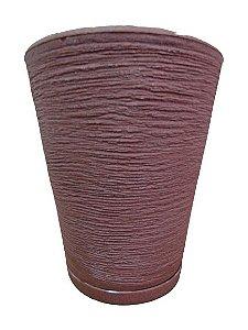 Vaso Cone PP com Prato Cores Sortidos