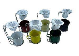 Coador de Café com Canequinha 250ml Cores Sortidas