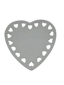 Porta Anéis Coração Cerâmica Branco