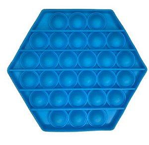 POP IT Antistress Sextavado Azul