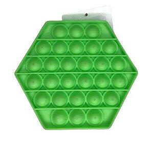 POP IT Antistress Sextavado Verde
