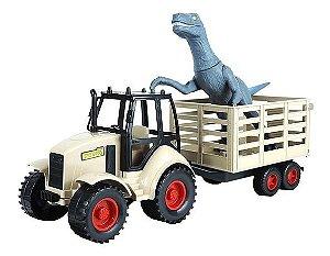 Trator com Carreta e Velociraptor 1530