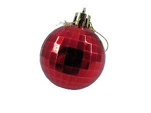 Bola Natal Vermelha X3 5CM