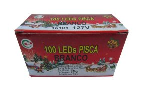 Pisca 100 Lâmpadas LED Branca 8 Funções