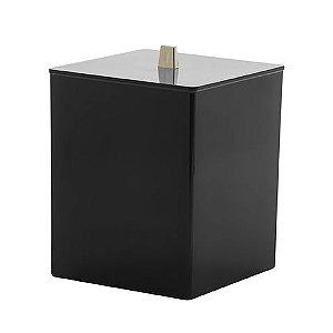 Lixeira Quadrada Quadratta - Preta
