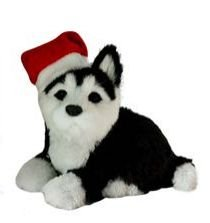 Enfeite Natal Cachorro Sentado Preto/Branco