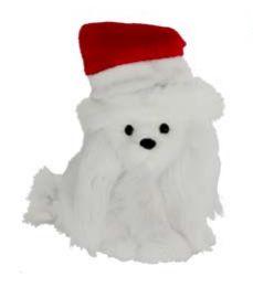 Enfeite Natal Cachorro Sentado Branco