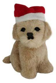 Enfeite Natal Cachorro Sentado Bege
