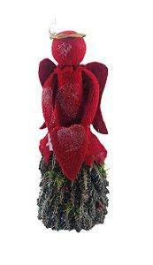 Enfeite Anjo Natal Pinha 45x14x10cm
