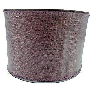 Fita Aramada Tecido Metalizado 6x9,14M - Rosa