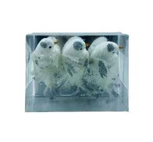 Enfeite Natal Pássaro Branco X3 16CM - 12134BR