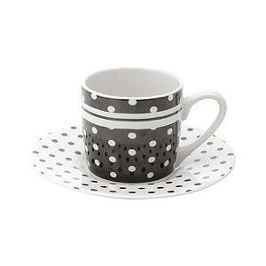 Conjunto 6 Xicaras para Café Black Dots