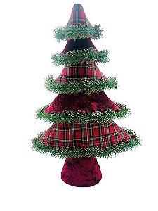 Árvore Natal Xadrez com Berry 51x33x12cm