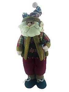 Papai Noel em Pé 48cm com Casinha - 18060