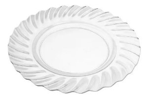 Sousplast Plástico Transparente Feston 7600