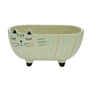 Cachepo Cerâmica Charmy Cat 44309