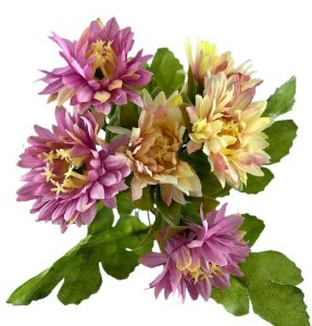 Buque Dalia X5 28CM Rosa Claro Mesclado 06259