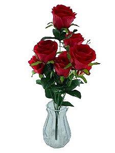 Buque Rosa X9 51CM Vermelho 07989