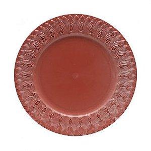 Sousplat Plástico Pétalas Vermelho 36CM 7733