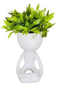 Vaso Cerâmica BOB Yoga Branco G