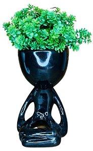 Vaso Cerâmica BOB Yoga Preto G