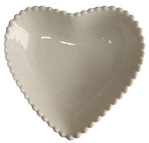 Coração Cerâmica Grande Branco 14,5 x 14, 5 - 2008082