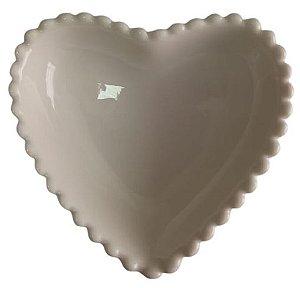Coração Cerâmica Médio Branco 12,3 x 12,3 - 2008081