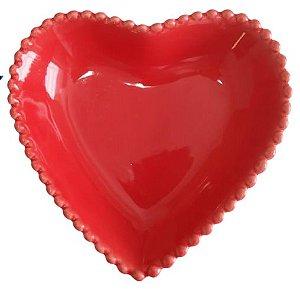 Coração Cerâmica Médio Vermelho 12,3 x 12, 3 2008081