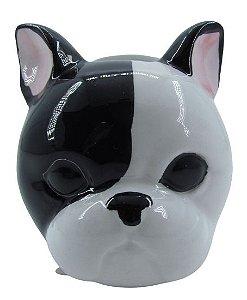 Cachorro Preto/Branco Vaso FR202027