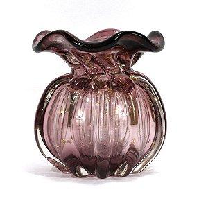 Murano Vaso Italy Purpura / Rose 10x11 4440