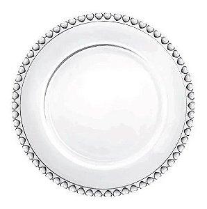 Prato Sobremesa Coração Cristal 20CM
