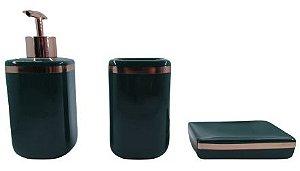 Kit Banheiro Cerâmica 3 Peças ZT8555