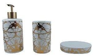 Kit Banheiro Cerâmica 3 Peças ZT8557