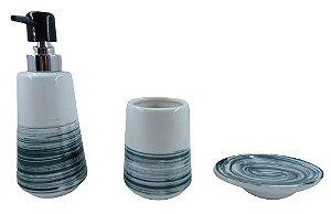 Kit Banheiro Cerâmica 3 Peças ZT8562