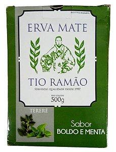 Erva Mate Menta / Boldo 500g Tio Ramão