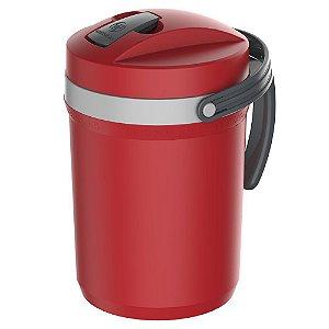 Garrafa Térmica Flip Top Vermelha 2,5L 1804VM